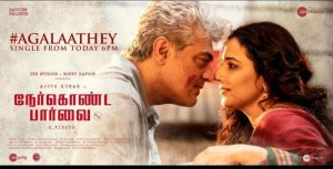 Ajith's Nerkonda Paarvai Single Agalaathey from today 6pm