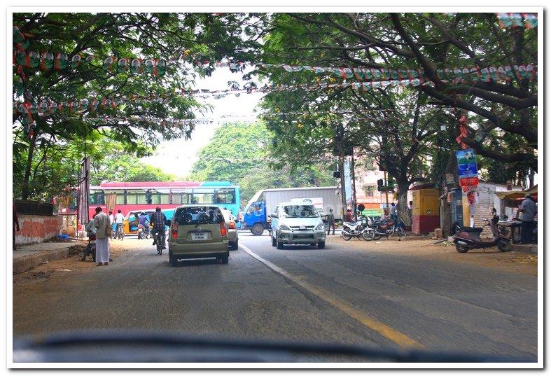 School road junction thirumangalam