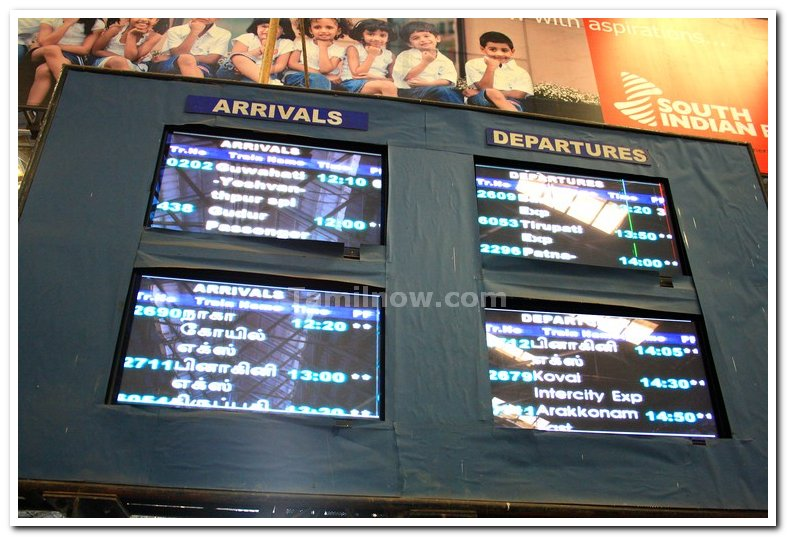 Chennai central arrival departure display