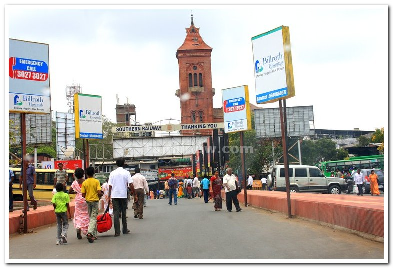 Chennai central exit for cars