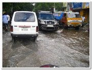 Chennai flooded road