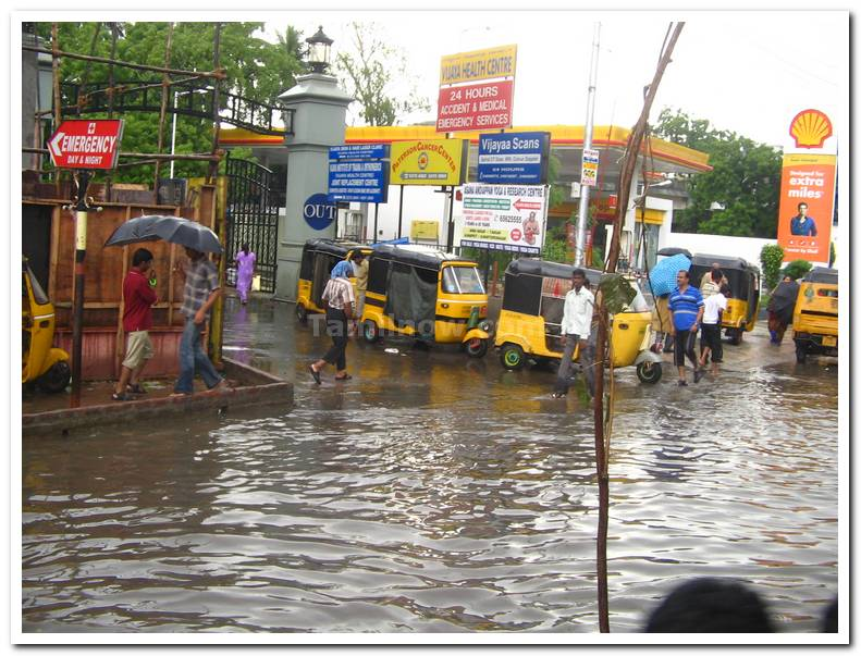Vadapalani flooded road