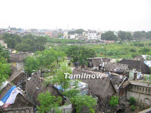Slums in Chennai City