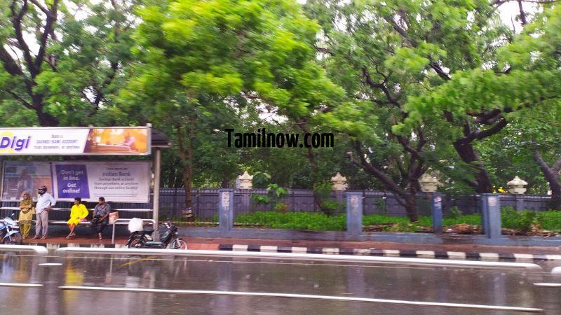 Chennai rain photo 11 valluvar kottam bus stop 251