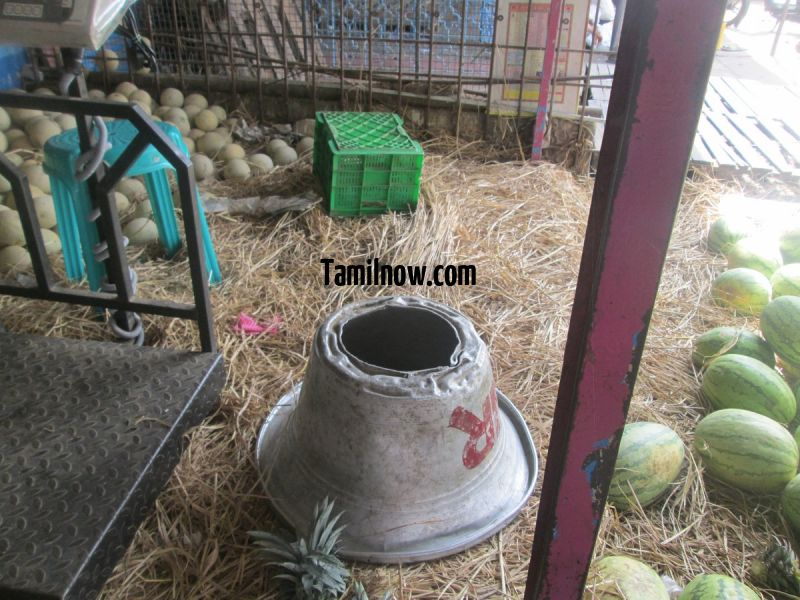 Watermelon for sale at koyambedu fruits market 203