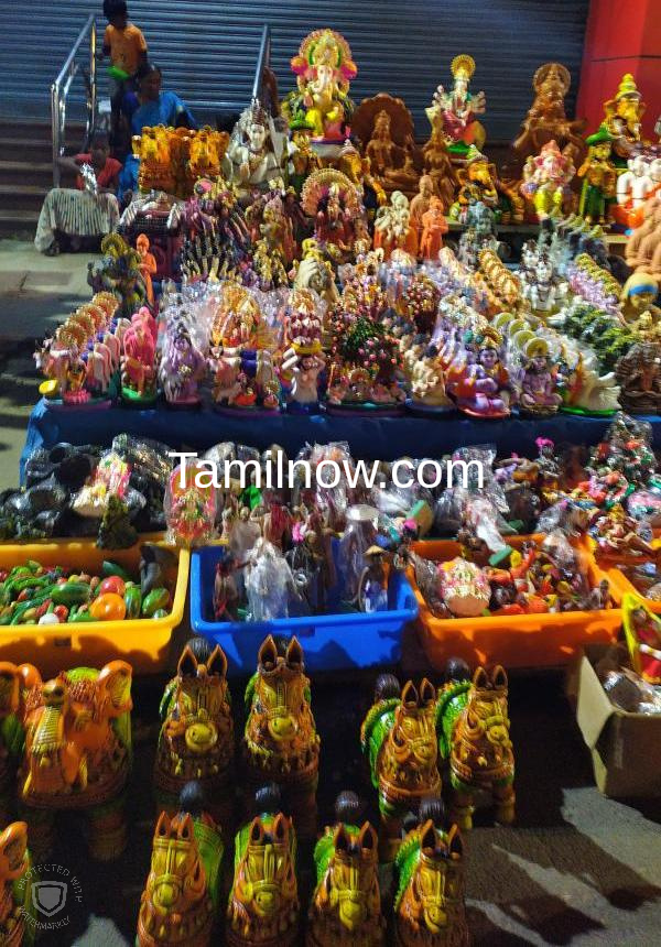 Golu display shops at mylapore