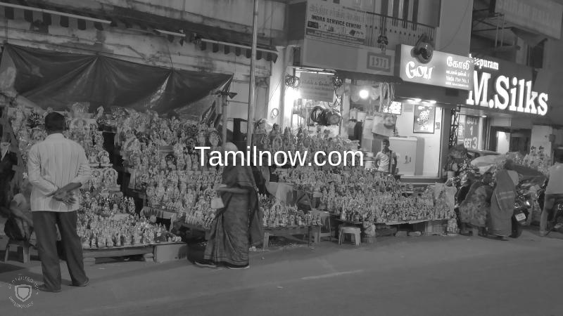 Navaratri golu display at mylapore