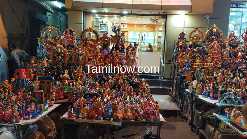 Navaratri golu display shops at mylapore