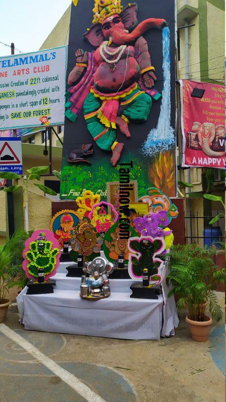 Ganesh chathurthi vinayagas at velammal main school 93