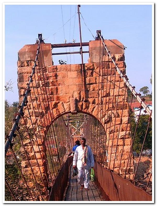 Gokak falls hanging bridge