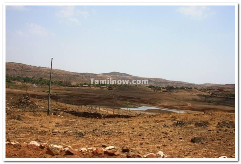 River along dandoba hills during summer