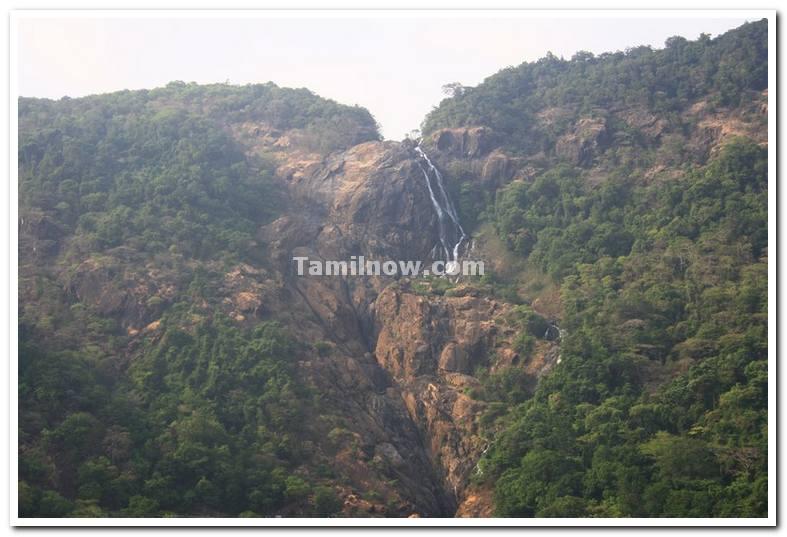 Dudhsagar waterfalls during summer