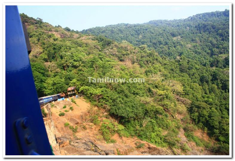 Goa express in ghat section
