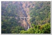Rail line atop dudhsagar falls