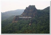 Rocky hill along ghat section