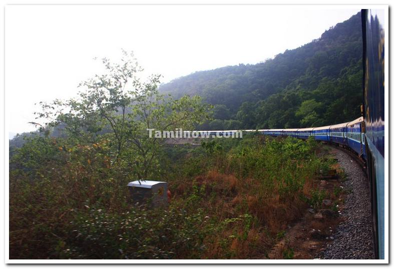 Train on ghat route