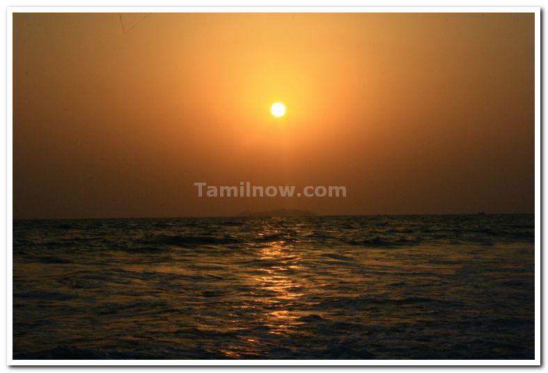 Sunset at majorda beach goa 1