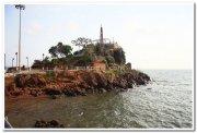 View point at dona paula beach goa