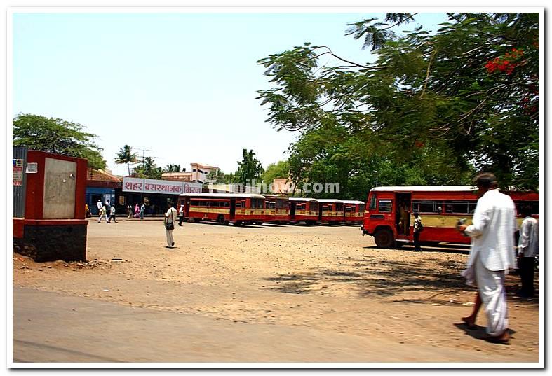 Town bus stand miraj