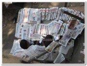 Newspaper vendor near zion koliwada