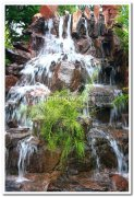 Artificial waterfalls at mysore palace