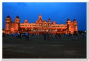 Mysore palace at dawn