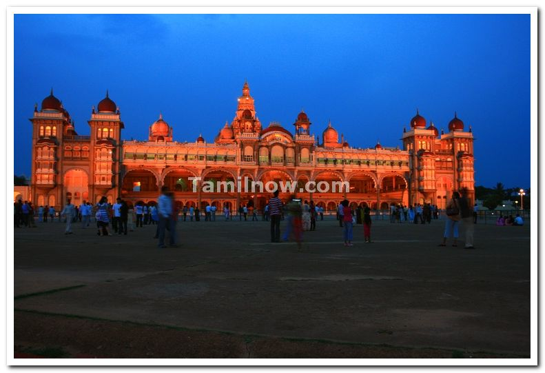Mysore palace at dawn