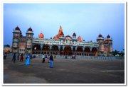 Mysore palace before illumination