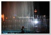 Mysore palace fountains at night