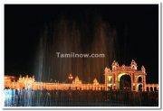 Mysore palace illuminated entrance