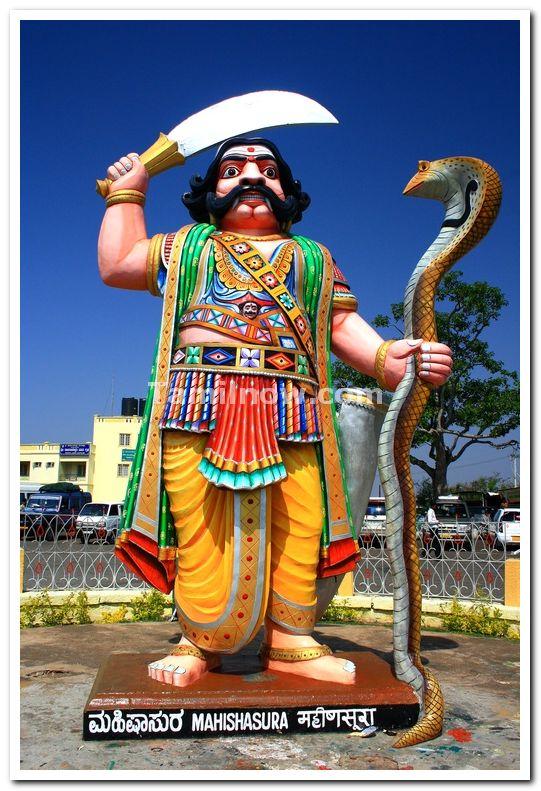 Mahishasura statue at chamundi hills