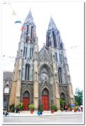 Mysore st philomenas church front view