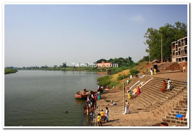 Sangam of holy rivers krishna and panchaganga