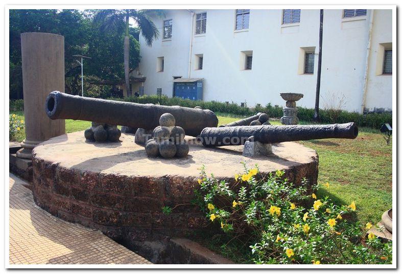 Old Warwares on display, Goa