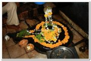 Sivalinga as worshipped by lord ram inside cave