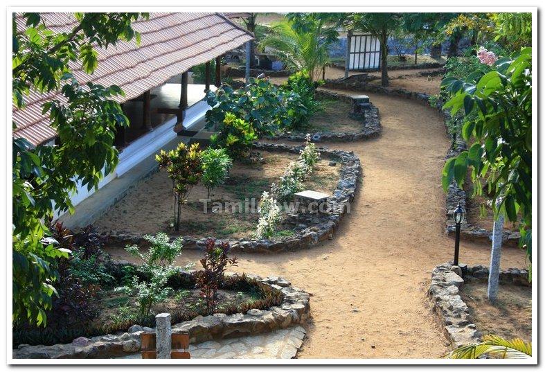 Kerala house courtyard