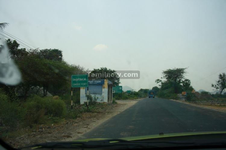 Gingee fort from Thiruvannamalai Road