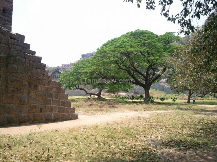 The Rajagiri Fort structures