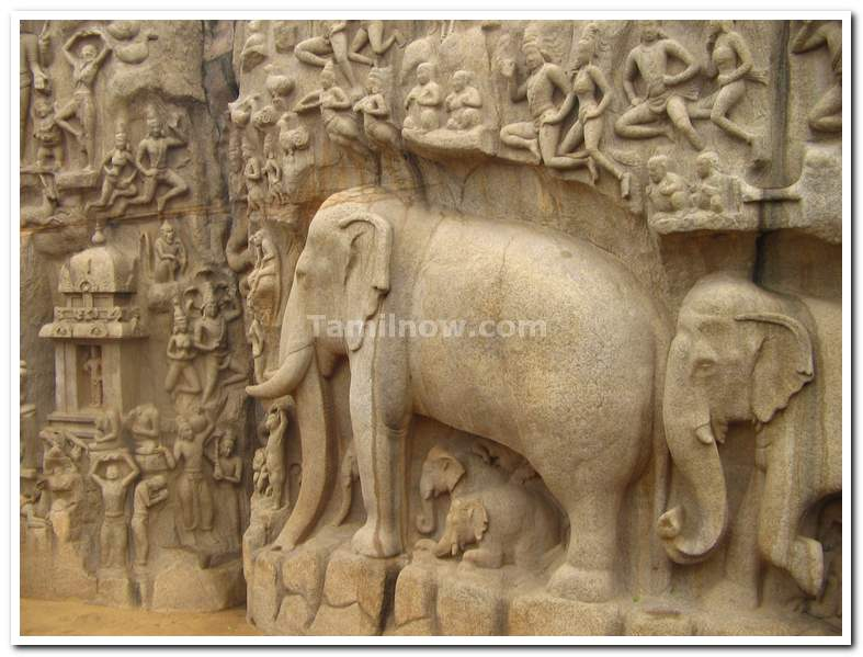 Stone carving of an elephant a beautiful piece art