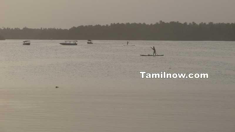 Small boats in chunnambar lake