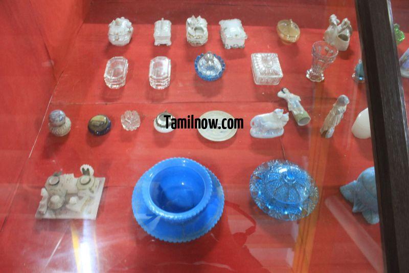 Crystal wares on display at thanjavur palace museum 877