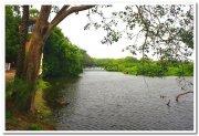Lake flows through vedantangal