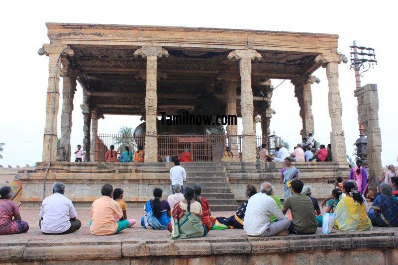 Big statue of nandi at brihadeeswarar temple tanjavur 811