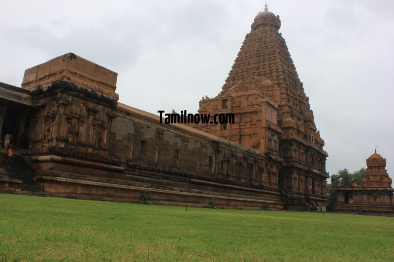 Brihadeeswarar temple thanjavur panoramic view 689