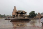 Thanjavur big temple on a rainy day 695