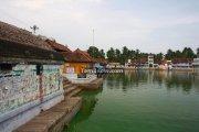 Suchindram temple pond photos 2
