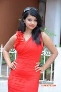 Actress In Red Dress At Vethu Paper Movie Launch 951