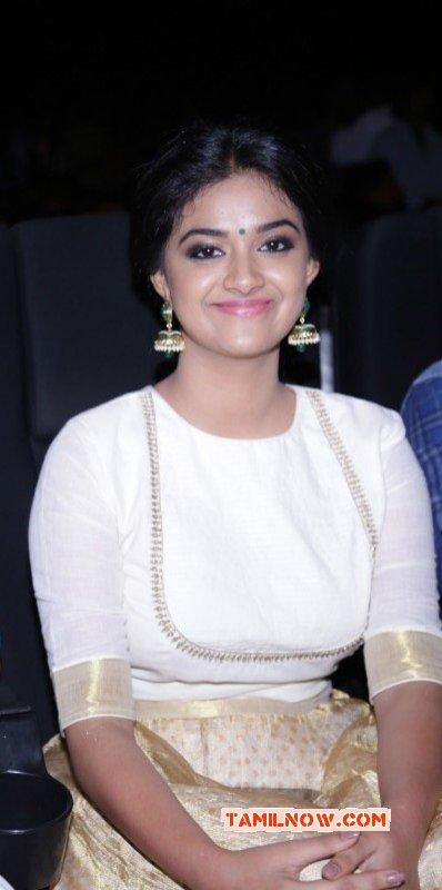 Indian Actress Keerthi Suresh Jun 2016 Still 6749