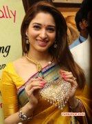 Actress Latest Tamanna In Yellow Sari 847