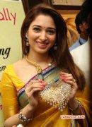 Tamanna In Yellow Sari Latest Pic 58